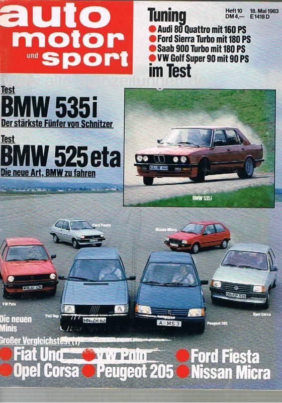 18. Mai 1983 - Auto Motor und Sport Heft 10