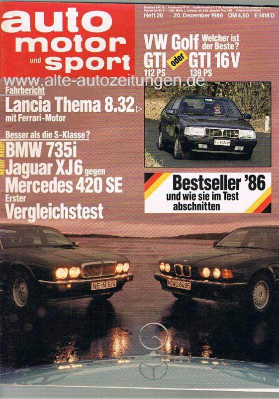 20. Dezember 1986 - Auto Motor und Sport Heft 26