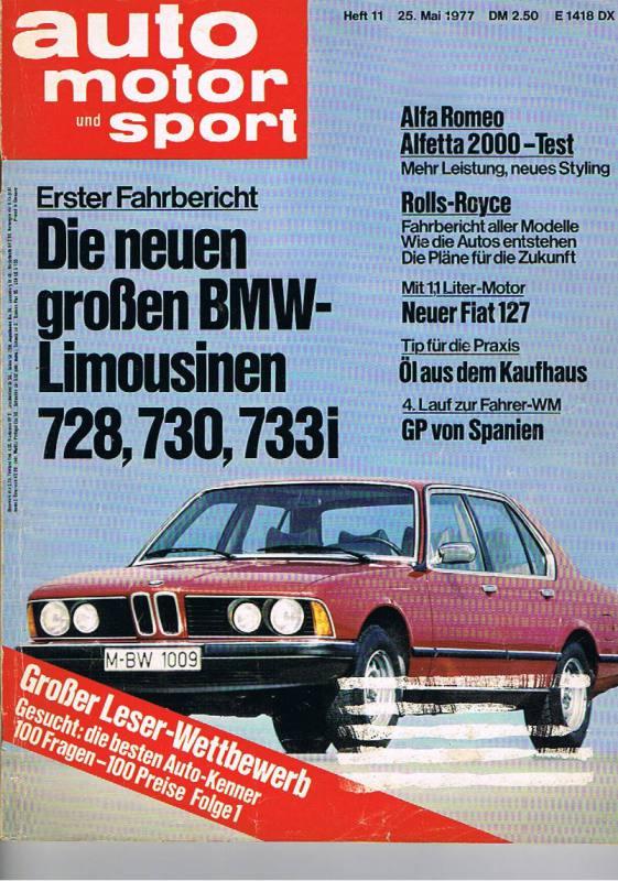 BMW Alpina B6 >> 25. Mai 1977 - Auto Motor und Sport Heft 11