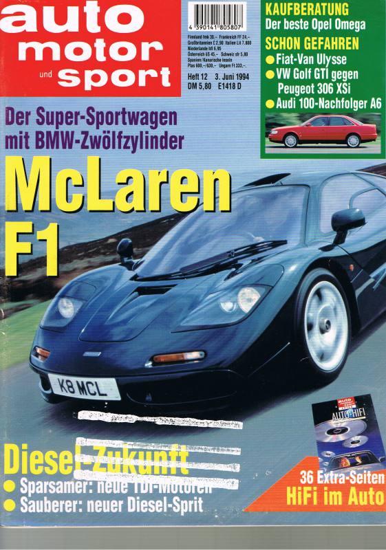 3. Juni 1994 - Auto Motor und Sport Heft 12