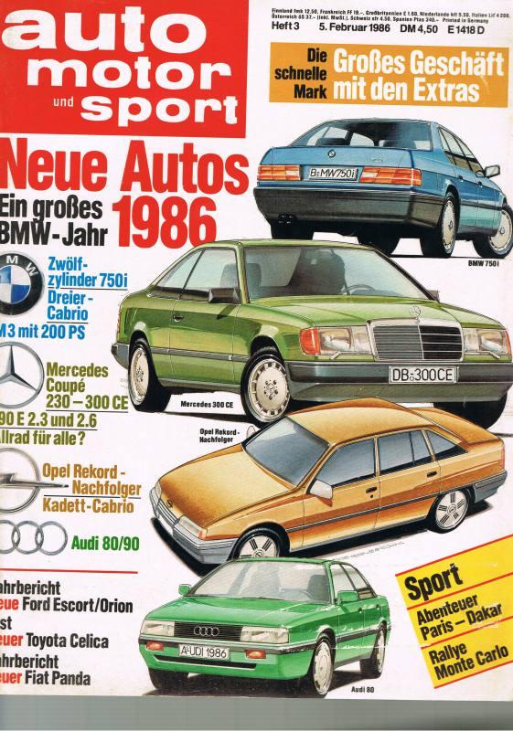 5. Februar 1986 - Auto Motor und Sport Heft 3